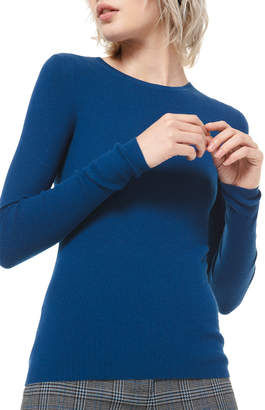 Michael Kors Cashmere Fitted Crewneck Sweater