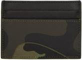 Valentino Green Camo Card Holder