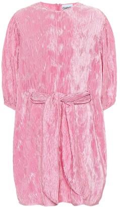 Ganni Pleated satin dress