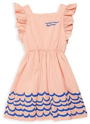 Bobo Choses Little Girl's & Girl's Waves Woven Ruffle Blooming Dress