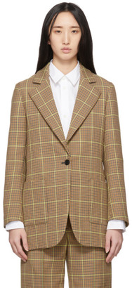 MSGM Brown Check Blazer