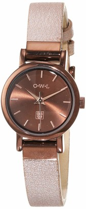 OWL Women's Analogue Japanese Quartz Watch with Stainless Steel Strap A6SBN