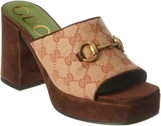 Gucci Gg Canvas Platform Sandal