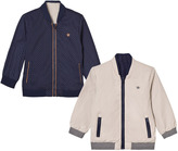 Mayoral Navy and Beige Reversible Bomber Jacket