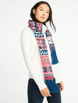 Old Navy Patterned Sweater-Knit Scarf for Women