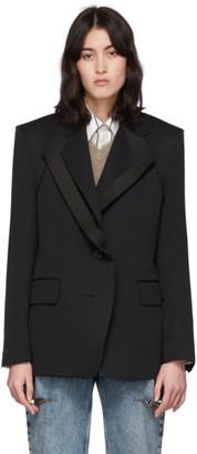 Maison Margiela Black Double Collar Asymmetric Blazer
