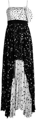 Silvia Tcherassi Salgar Tiered Dotted Gown