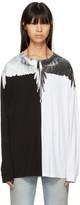 Marcelo Burlon County of Milan Black & White Long Sleeve Aish T-Shirt