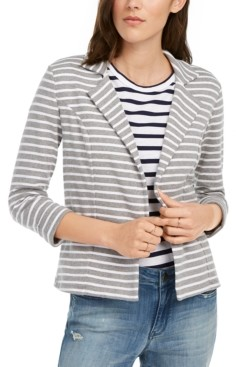Maison Jules Striped Breton Blazer, Created for Macy's