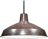 "Warehouse Satco Lighting 1 Light 16"" Pendant Shade, Old Bronze"