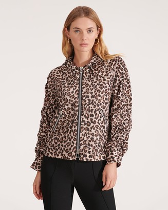 Veronica Beard Sibila Leopard Anorak