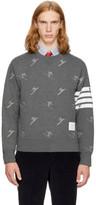 Thom Browne Grey Classic Four Bar Skier Icon Sweatshirt