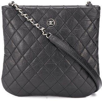 Chanel Pre Owned 2018 Diamond Quilt Crossbody Bag