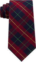 Club Room Men's Holiday Plaid Silk Tie, Created for Macy's