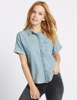 Marks and Spencer PETITE Pure Cotton Short Sleeve Shirt