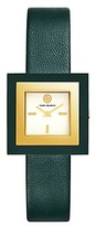 Tory Burch Sedgwick Watch, Green Leather/Gold-Tone, 33mm