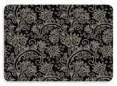 Bungalow Flooring New Wave 18-Inch x 27-Inch Black Paisley Door Mat