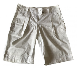 Prada White Cloth Shorts