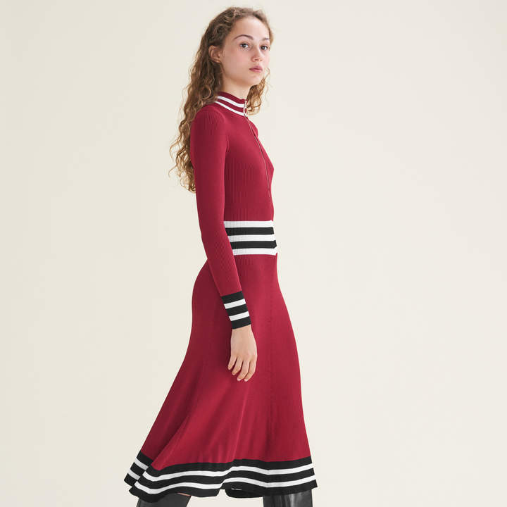 Maje Long rib-knit dress