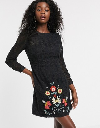 Urban Bliss orla lace dress with embroidery