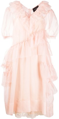 Simone Rocha Ruffle-Detail Midi Dress
