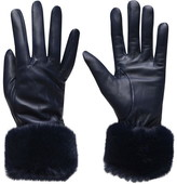 Barbour Lifestyle Fur Trimmed Leather Gloves