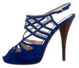 Fendi Suede Cutout Sandals