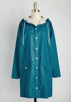 Kling /Kalessa Accesorios, SL Ups and Downpours Rain Coat in Cerulean