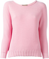 Cruciani boat neck jumper - women - Cotton - 40