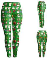 Kalin L 3D Digital Ugly Christmas Leggings for Women (XL, )