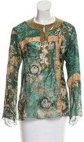 Roberto Cavalli Embellished Silk Blouse