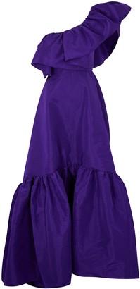 Azzi & Osta Purple One-shoulder Taffeta Gown