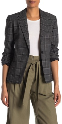 Rachel Roy Plaid One Button Blazer