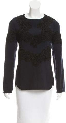 Chloé Wool Guipure Lace Top