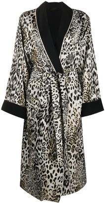 Ermanno Scervino Leopard Print Belted Coat
