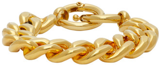MM6 MAISON MARGIELA Gold Chunky Curb Chain Bracelet