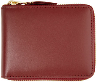 Comme des Garçons Wallets Red Classic Logo Zip-Around Wallet