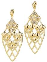 Just Cavalli – scagd04 Skin Stainless Steel Gold Plated Crystal Earrings