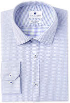 Ryan Seacrest Distinction Men's Slim-Fit Stretch Non-Iron Medium Blue Check Dress Shirt, Created for Macy's
