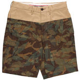 Moncler Cut and Sew Camouflage Shorts w/ Tags