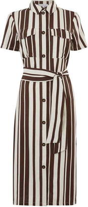 Warehouse Stripe Shirt Dress