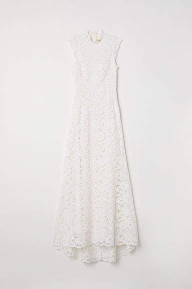 H&M Long Lace Dress - White