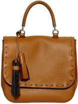 Max Mara Bobag Leather Top Handle Bag W/ Tassels