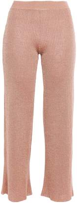 Missoni Cropped Crochet-knit Linen-blend Flared Pants