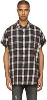 R 13 Brown Oversized Cut Off Shirt