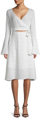 Few Moda Printed Bell-Sleeve Dress