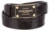 Gianni Versace Patent Leather Logo Belt