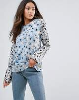 Warehouse Daisy Long Sleeve Top