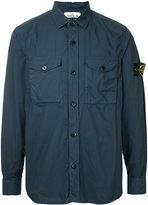 Stone Island logo patch shirt - men - Cotton/Polyester - XL