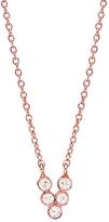 Yannis Sergakis Adornments Five Bezel Diamond Charnières Necklace - Rose Gold
